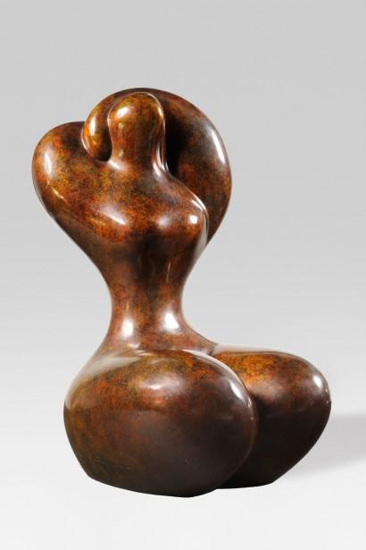 Louis BANCEL (1926-1978)  «Sans titre»  Bronze patiné  Numéroté 2/8 et signé «Bancel»  H.35,5xL.27xP.24 cm