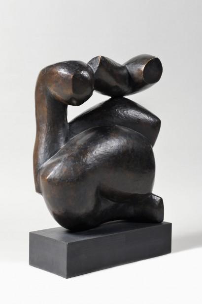 """""""Hommage à Laurens"""" de Costa Coulentianos (Athènes 1918 - Plan d'Orgon 1995)  1952  Bronze n°4/8  Cachet de la Fonderie TEP, Grèce  71 x 57 x 25 cm"""