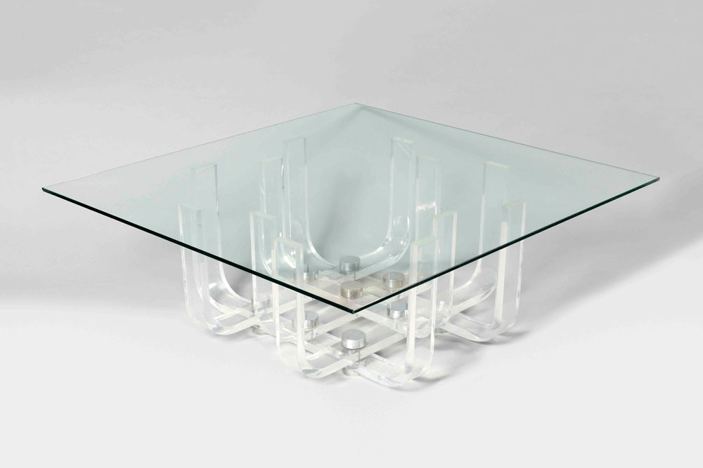 Philippe jean table basse plexiglas martel greiner - Table basse en plexi ...