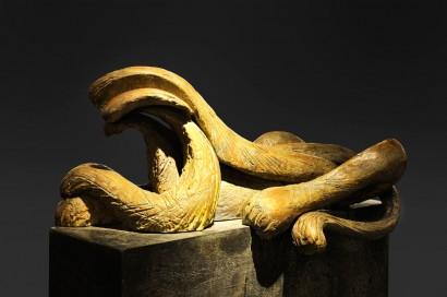 Olivier STREBELLE (Uccle, Belgique 1927)     «Les Lions d'Atlanta»  1985     Bronze  Numéroté 5/9  H. 104 cm, L. 84 cm, P. 42 cm  Bibliographie :  - «Journal d'un sculpteur Olivier Strebelle», Crédit Communal