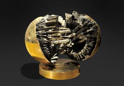 Alberto GUZMAN (Né au Pérou en 1927, Pérou)     «Partition»  Circa 1960     Fer  Pièce unique     Bibliographie :  - Jean-Clrence LAMBERT – Pierre Restany, «Alberto Guzman sculpteur», Art inprogress Editions , 2007