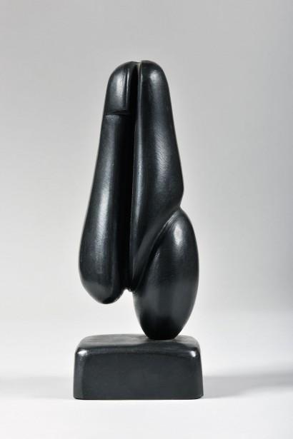 Gérard VOISIN (France, Né en 1945)     «L'androgyne»  1993     Bronze N°8/8     Hauteur : 23cm  Certificat d'authenticité de l'artiste