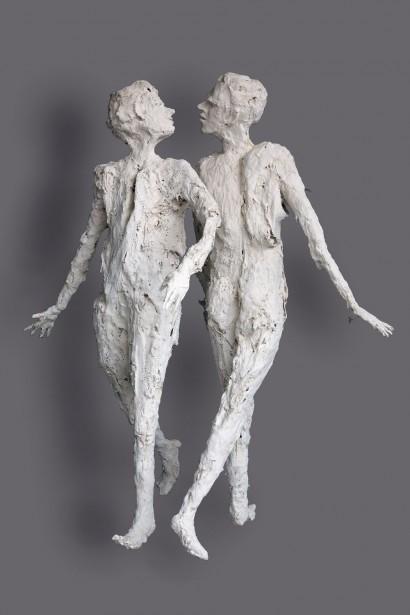 """« La grande Rencontre » de Roseline Granet  2008  Résine, pièce unique  200 x 170 x 118 cm     Bibliographie :  - """"Roseline Granet sculptures"""", éditions Le passage, Octobre 2007"""