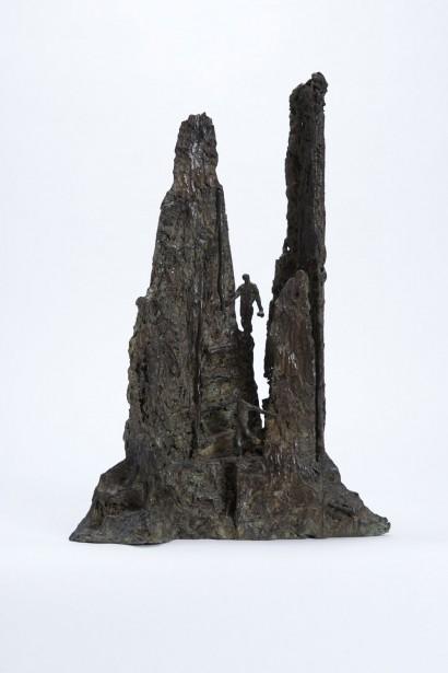 """La descente"" de Roseline Granet  2013  Bronze  42 x 29 x 14 cm"