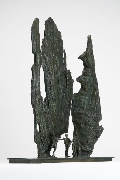 """Olinda"" de Roseline Granet  2012  Bronze  Pièce unique  53 x 16.5 x 36 cm"