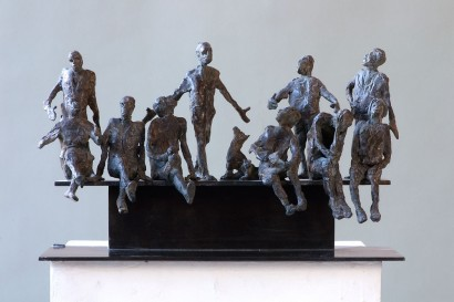 """""""Esquisse des amis"""" de Roseline Granet  2012  Bronze  Pièce unique  25 x 41 x 15 cm"""