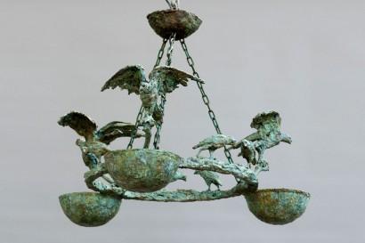 """""""Lustre aux oiseaux"""" de Roseline Granet  2012  Bronze  Pièce unique  90 x 74 cm"""