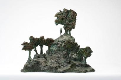 """Rêve de jardin"" de Roseline Granet  2013  Bronze  37.5 x 37.5 x 43 cm"