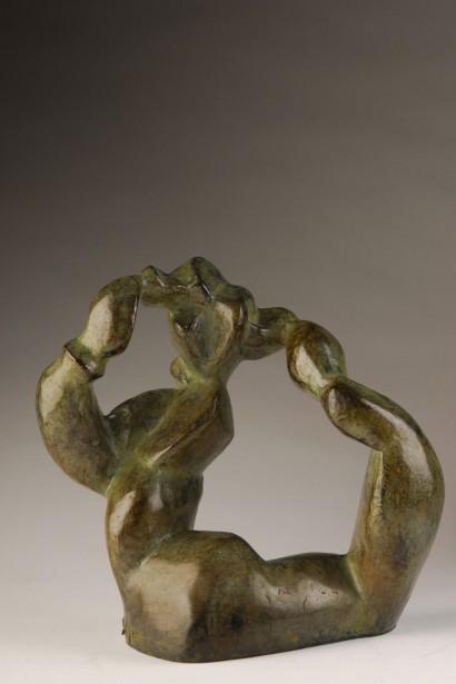 """""""L'algue"""" d'Henri Delcambre  1959  Bronze   23 x 22 x 14 cm  - « Henri Delcambre ou la géométrie poétique du corps », Emmanuel Bréon, sous la direction de la galerie Martel-Greiner, Somogy éditions d'art, 2008, reproduction de l'oeuvre p. 105"""