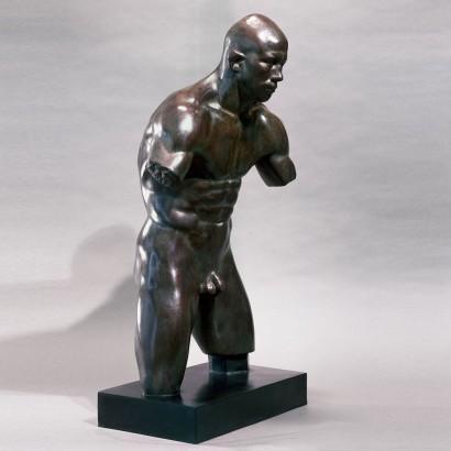 """""""Le lutteur"""" de Jacques Zwobada  1936  Bronze  75.5 x 33 x 44 cm  Bibliographie : - « Zwobada », Pierre Cabanne, Les éditions de l'amateur, 1992, oeuvre reproduite p. 21"""