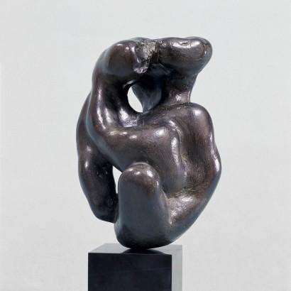 """""""Maternité"""" de Jacques Zwobada  1944  Glaise vernissée  29 x 19 x 15 cm  Bibliographie : - « Zwobada », Pierre Cabanne, Les éditions de l'amateur, 1992, oeuvre reproduite p. 55"""