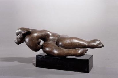"""""""Onde"""" de Jacques Zwobada  1950  Bronze  17 x 44 x 22 cm  Bibliographie : - « Zwobada », Pierre Cabanne, Les éditions de l'amateur, 1992, oeuvre reproduite p. 92-93"""