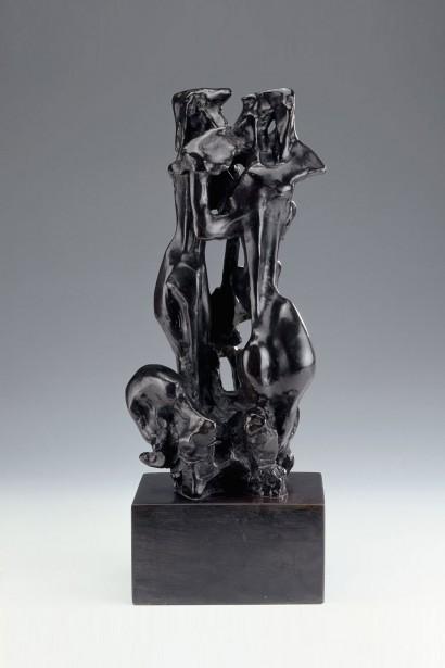 """""""Orphée et Eurydice"""" de Jacques Zwobada  1956  Bronze  42 x 20 x 13 cm  Bibliographie : - """"Zwobada"""", Pierre Cabanne, Les éditions de l'amateur, 1992, oeuvre reproduite p. 180"""