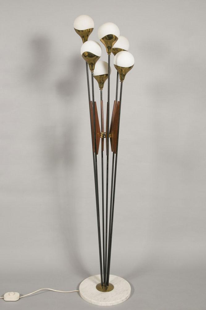 stilnovo lampadaire bouquet circa 1960 martel greiner. Black Bedroom Furniture Sets. Home Design Ideas
