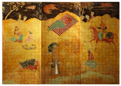 BRAGALINI panneaux Scène persane