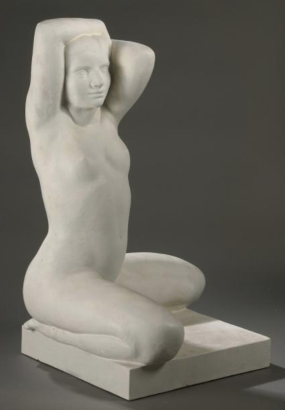 BOURET Jeunesse 1er version 1935-38 plâtre original 115 x 73 x 68 cm